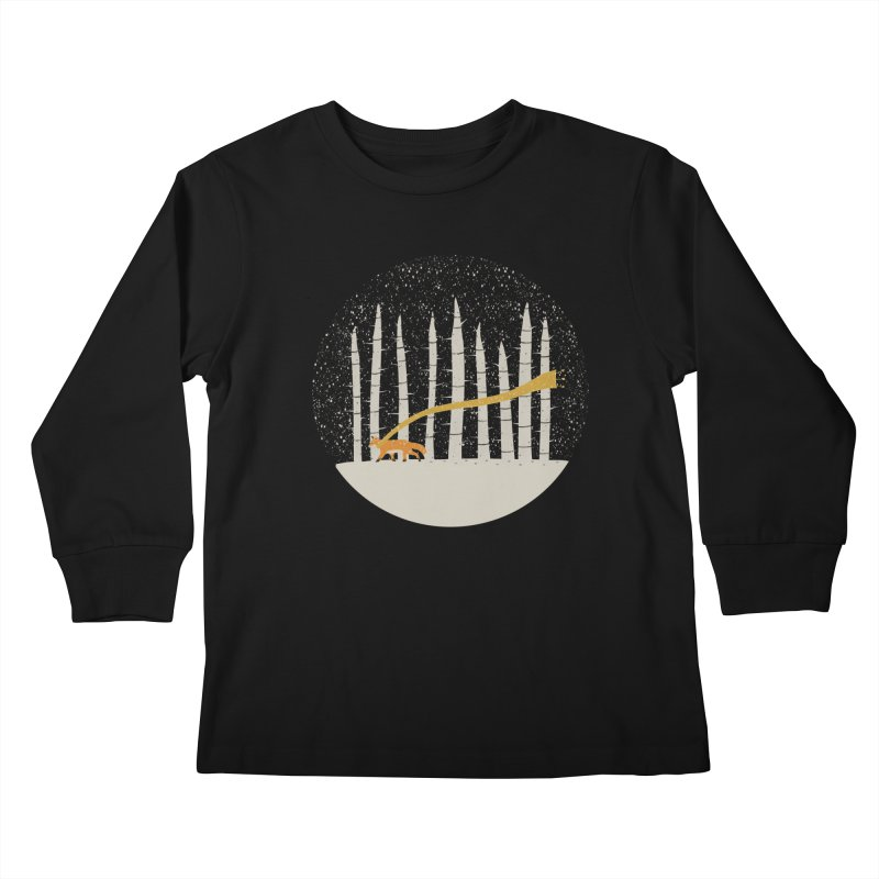 The Gold Scarf Kids Longsleeve T-Shirt by coyotealert