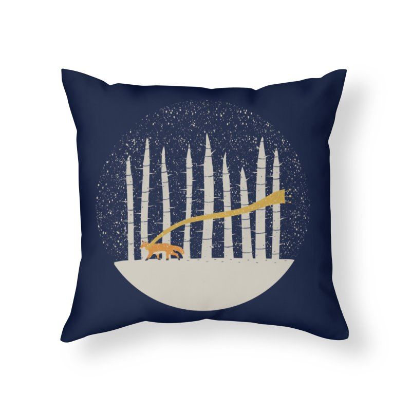 The Gold Scarf Home Throw Pillow by coyotealert
