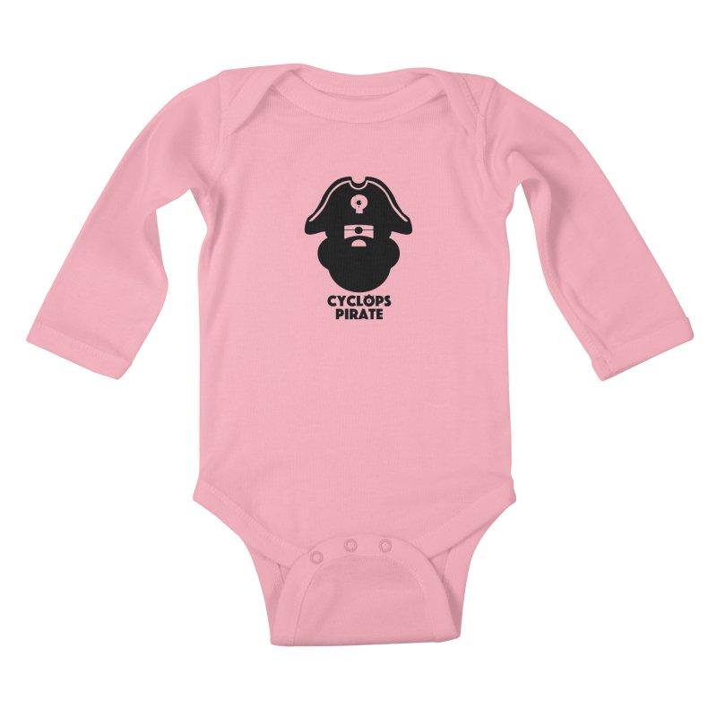 CYCLOPS PIRATE Kids Baby Longsleeve Bodysuit by CYCLOPS PIRATE Artist Shop
