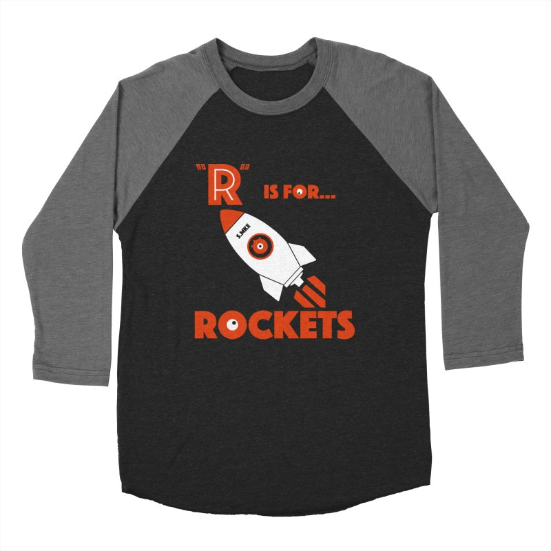 """R"" is for Rockets Men's Baseball Triblend T-Shirt by CYCLOPS PIRATE Artist Shop"