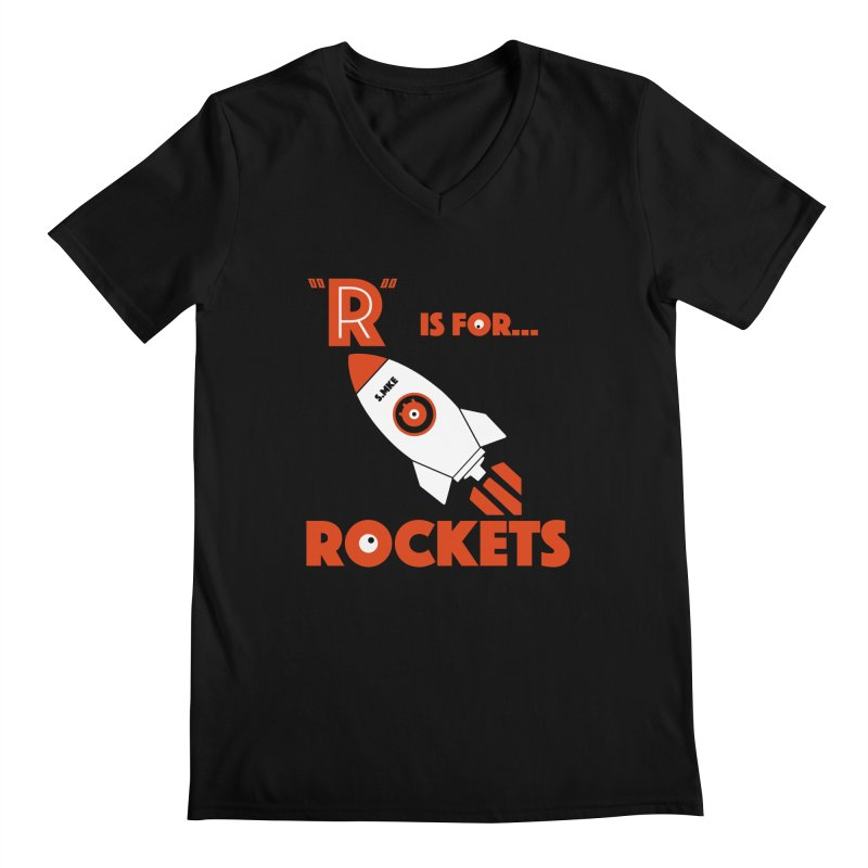 """R"" is for Rockets Men's V-Neck by CYCLOPS PIRATE Artist Shop"