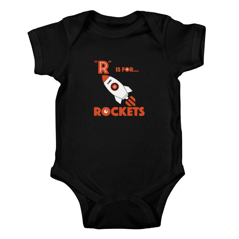 """R"" is for Rockets Kids Baby Bodysuit by CYCLOPS PIRATE Artist Shop"