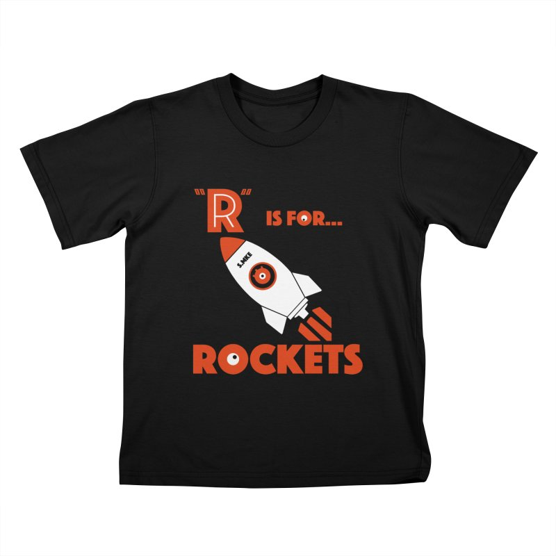 """R"" is for Rockets Kids T-shirt by CYCLOPS PIRATE Artist Shop"