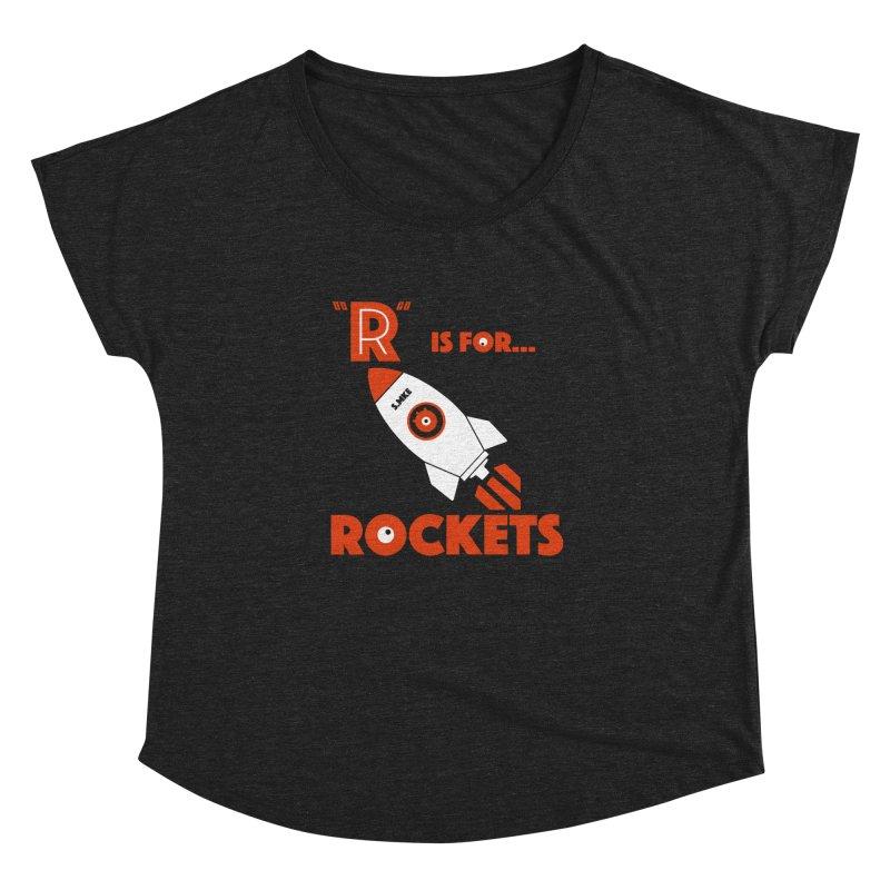 """R"" is for Rockets Women's Dolman by CYCLOPS PIRATE Artist Shop"