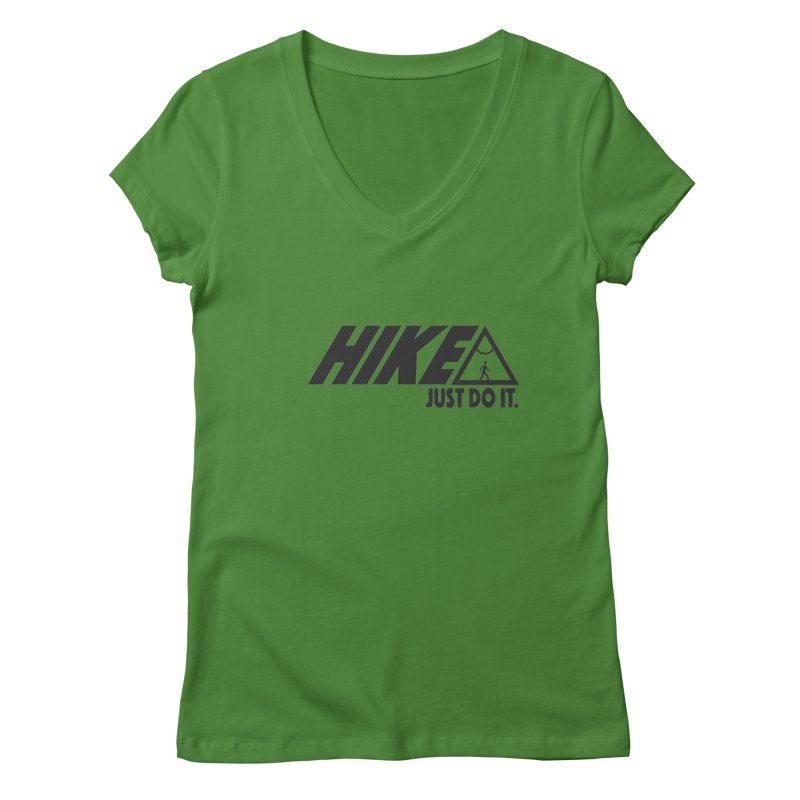 HIKE. JUST DO IT. Women's V-Neck by CYCLOPS PIRATE Artist Shop