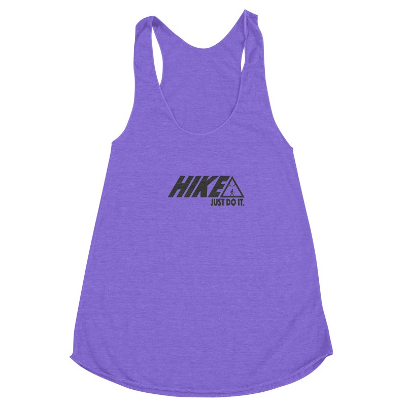 HIKE. JUST DO IT. Women's Racerback Triblend Tank by CYCLOPS PIRATE Artist Shop