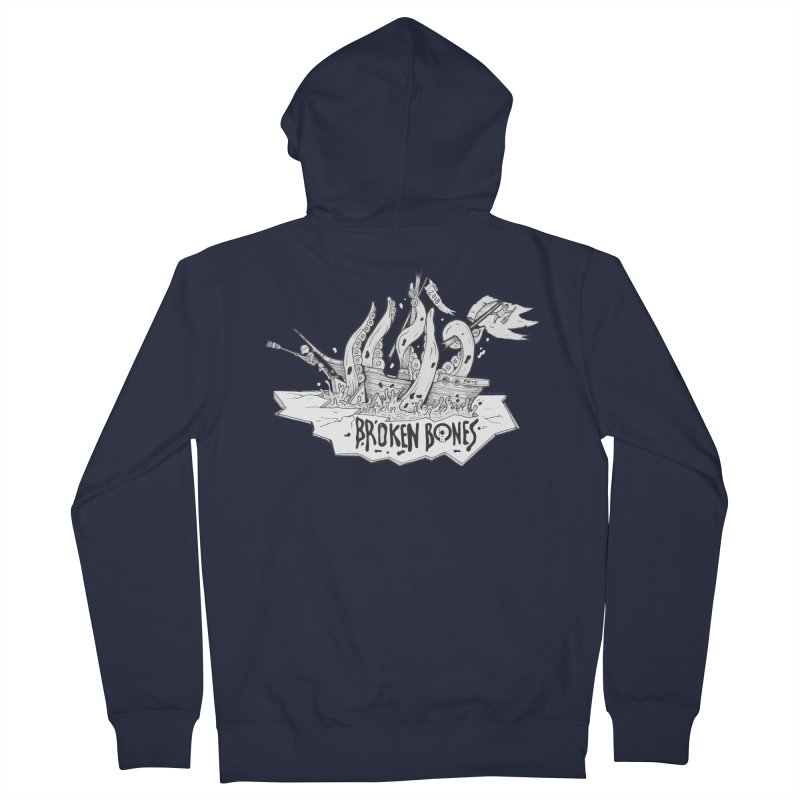 siete Men's French Terry Zip-Up Hoody by CYCLOPS PIRATE Artist Shop