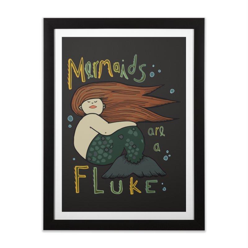 MERMAIDS are a FLUKE Home Framed Fine Art Print by CYCLOPS PIRATE Artist Shop