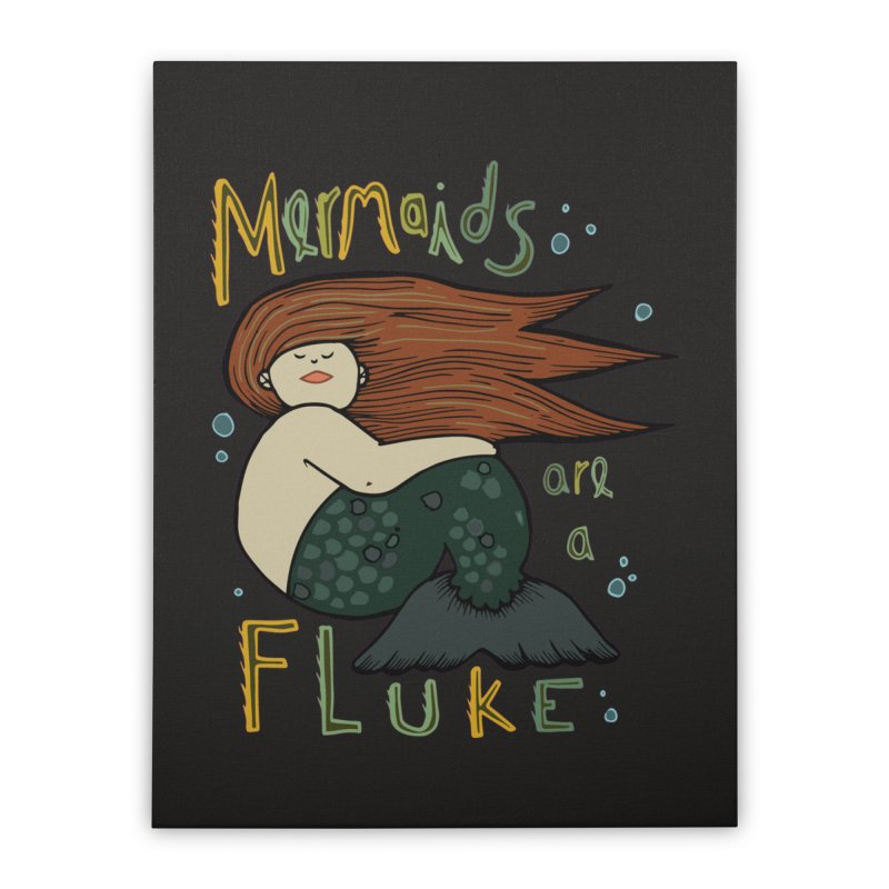 MERMAIDS are a FLUKE Home Stretched Canvas by CYCLOPS PIRATE Artist Shop