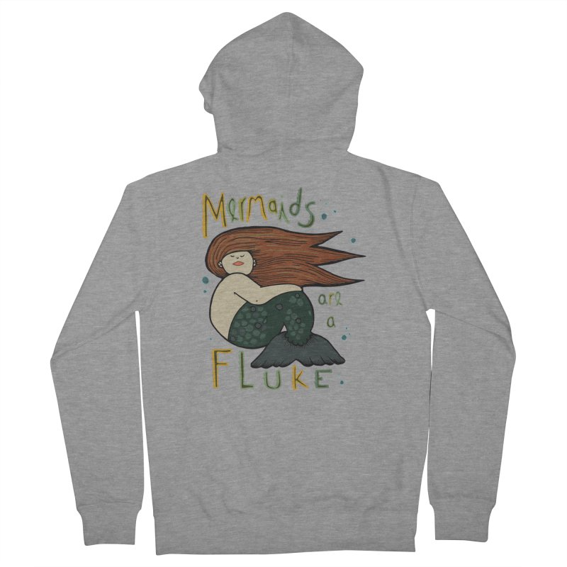 MERMAIDS are a FLUKE Men's French Terry Zip-Up Hoody by CYCLOPS PIRATE Artist Shop
