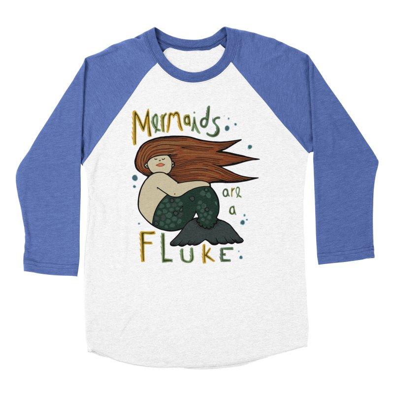 MERMAIDS are a FLUKE Men's Baseball Triblend Longsleeve T-Shirt by CYCLOPS PIRATE Artist Shop