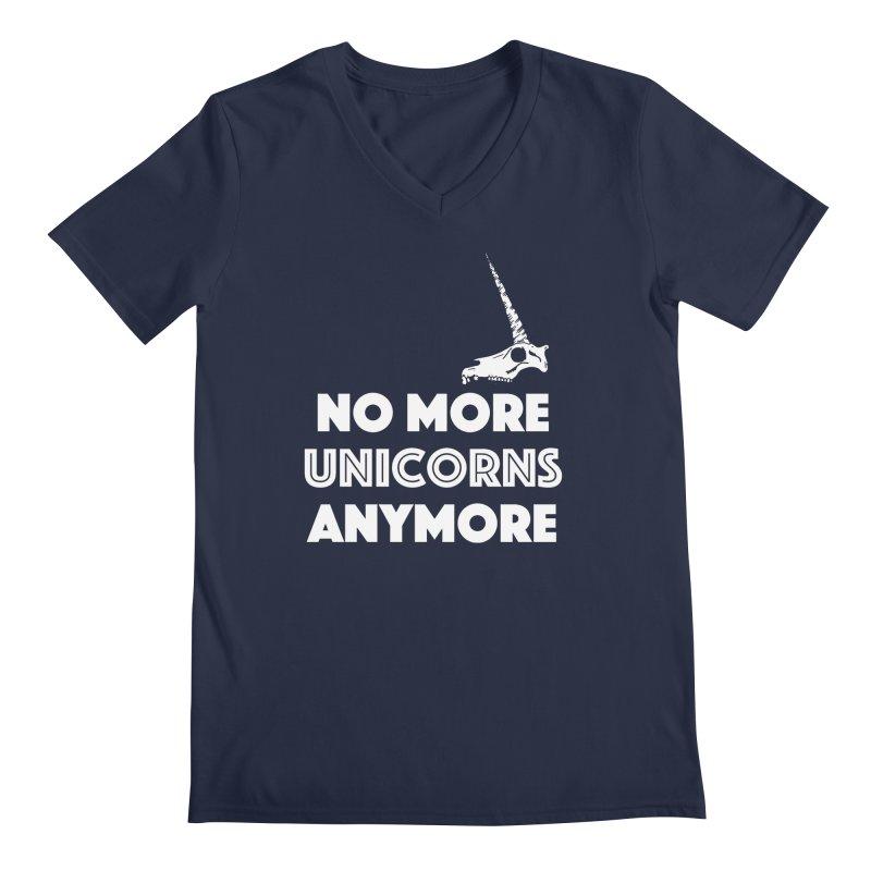 no more unicorns Men's Regular V-Neck by CYCLOPS PIRATE Artist Shop
