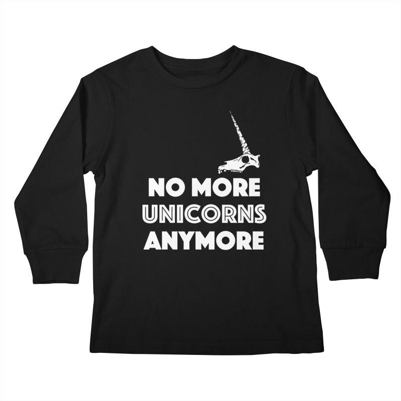 no more unicorns Kids Longsleeve T-Shirt by CYCLOPS PIRATE Artist Shop