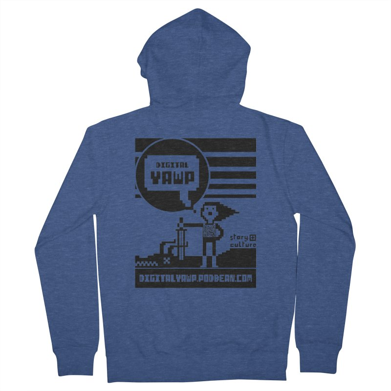 digital yawp Men's French Terry Zip-Up Hoody by CYCLOPS PIRATE Artist Shop