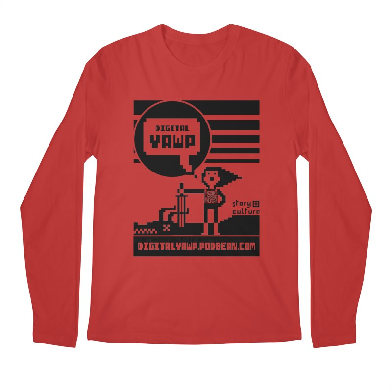 digital yawp Men's Regular Longsleeve T-Shirt by CYCLOPS PIRATE Artist Shop