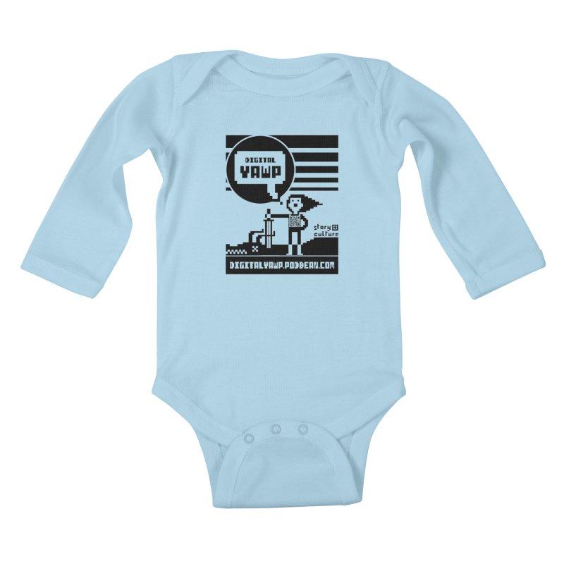 digital yawp Kids Baby Longsleeve Bodysuit by CYCLOPS PIRATE Artist Shop