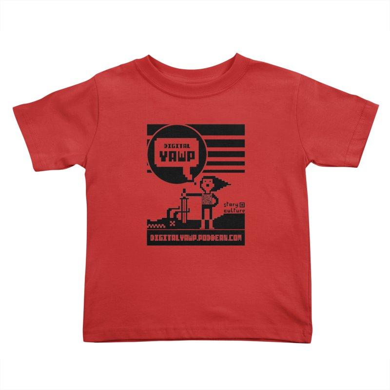 digital yawp Kids Toddler T-Shirt by CYCLOPS PIRATE Artist Shop