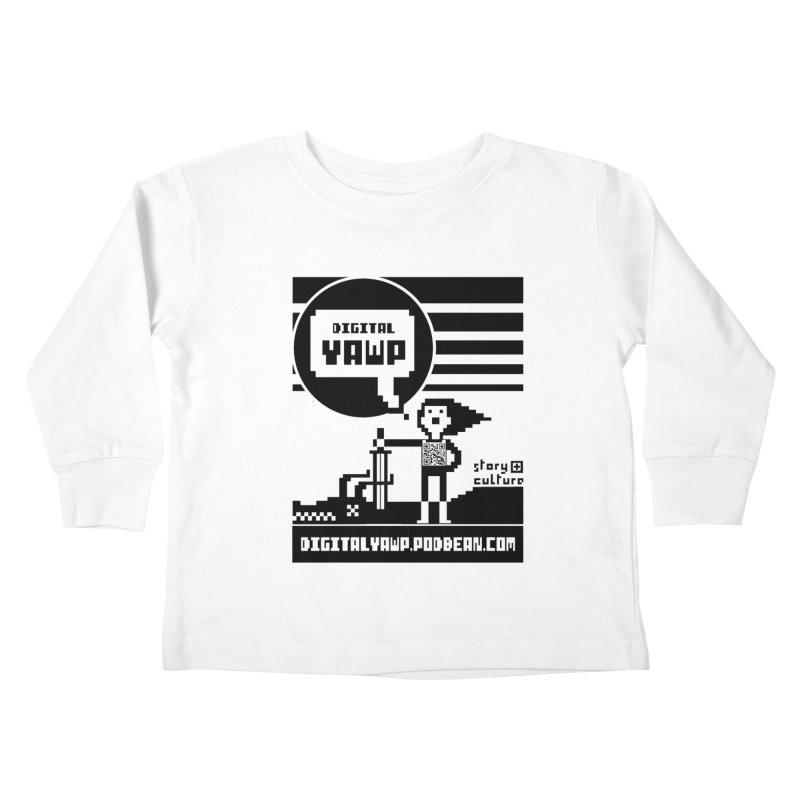 digital yawp Kids Toddler Longsleeve T-Shirt by CYCLOPS PIRATE Artist Shop