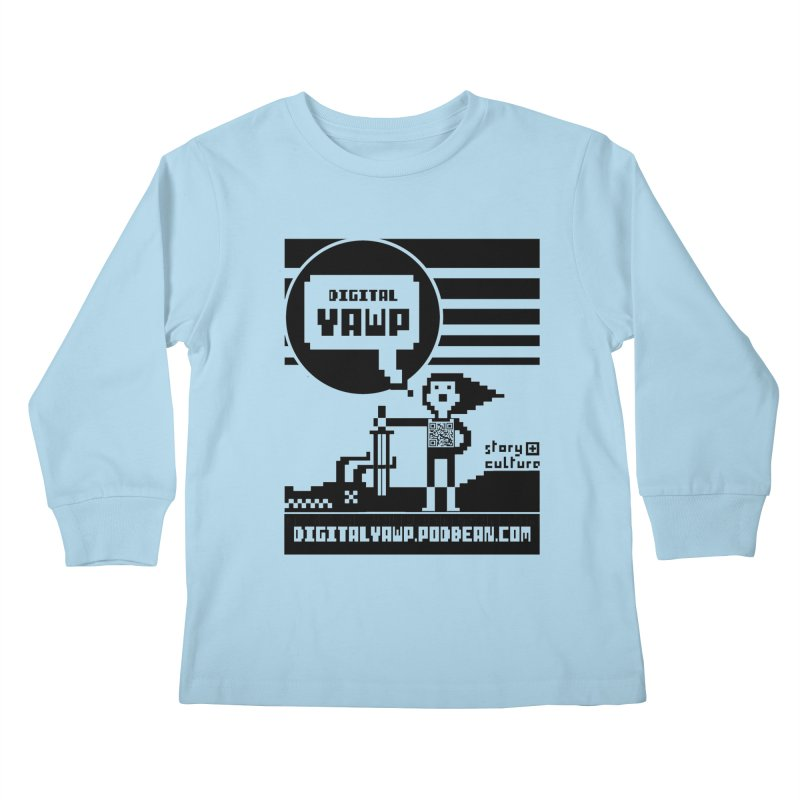 digital yawp Kids Longsleeve T-Shirt by CYCLOPS PIRATE Artist Shop