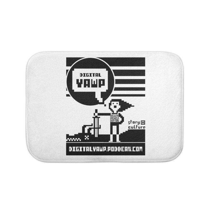 digital yawp Home Bath Mat by CYCLOPS PIRATE Artist Shop