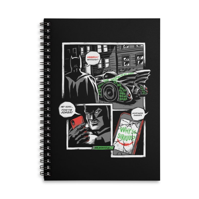 Siriously? Accessories Lined Spiral Notebook by CPdesign's Artist Shop