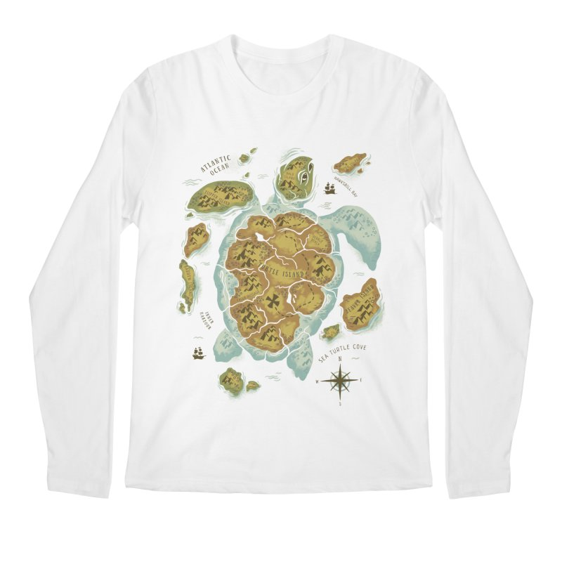 Turtle Island Men's Longsleeve T-Shirt by CPdesign's Artist Shop