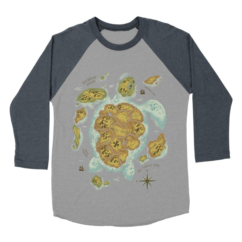 Turtle Island Women's Baseball Triblend T-Shirt by CPdesign's Artist Shop