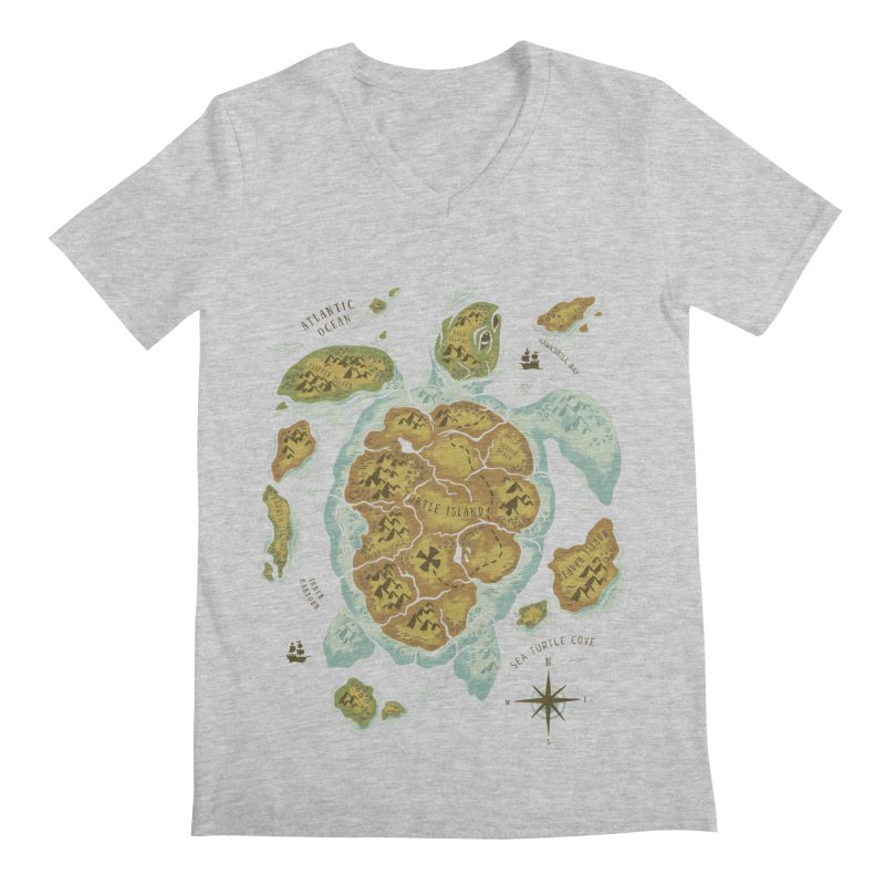 Turtle Island Men's V-Neck by CPdesign's Artist Shop