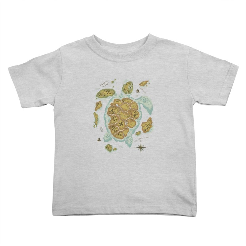 Turtle Island Kids Toddler T-Shirt by CPdesign's Artist Shop