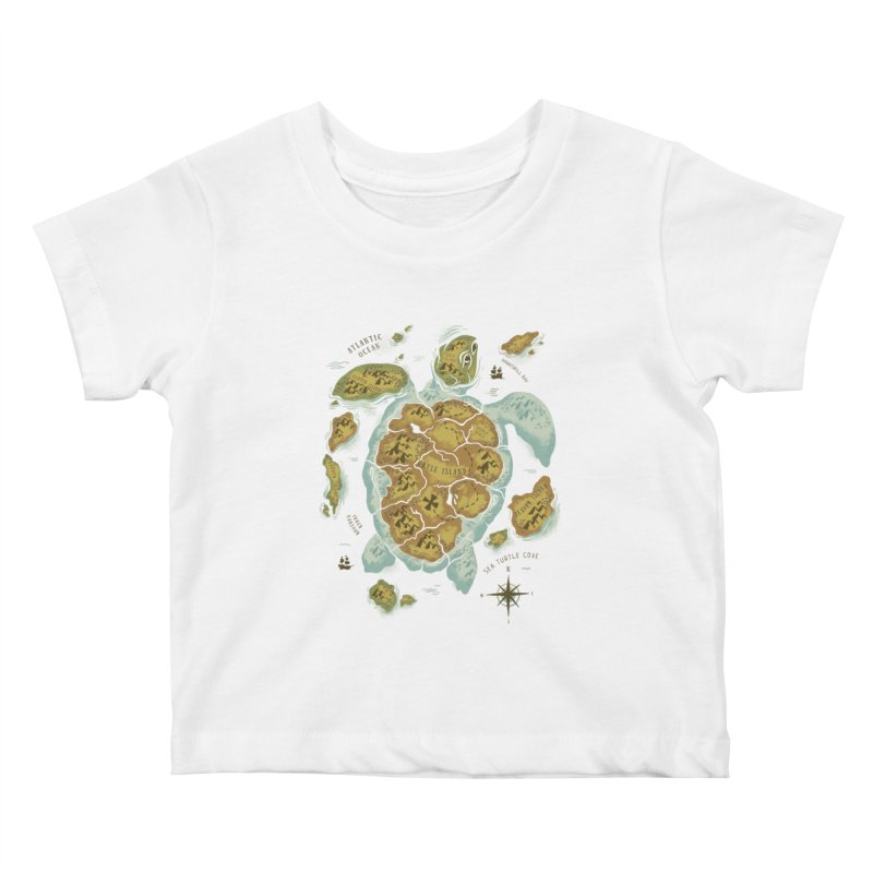 Turtle Island Kids Baby T-Shirt by CPdesign's Artist Shop