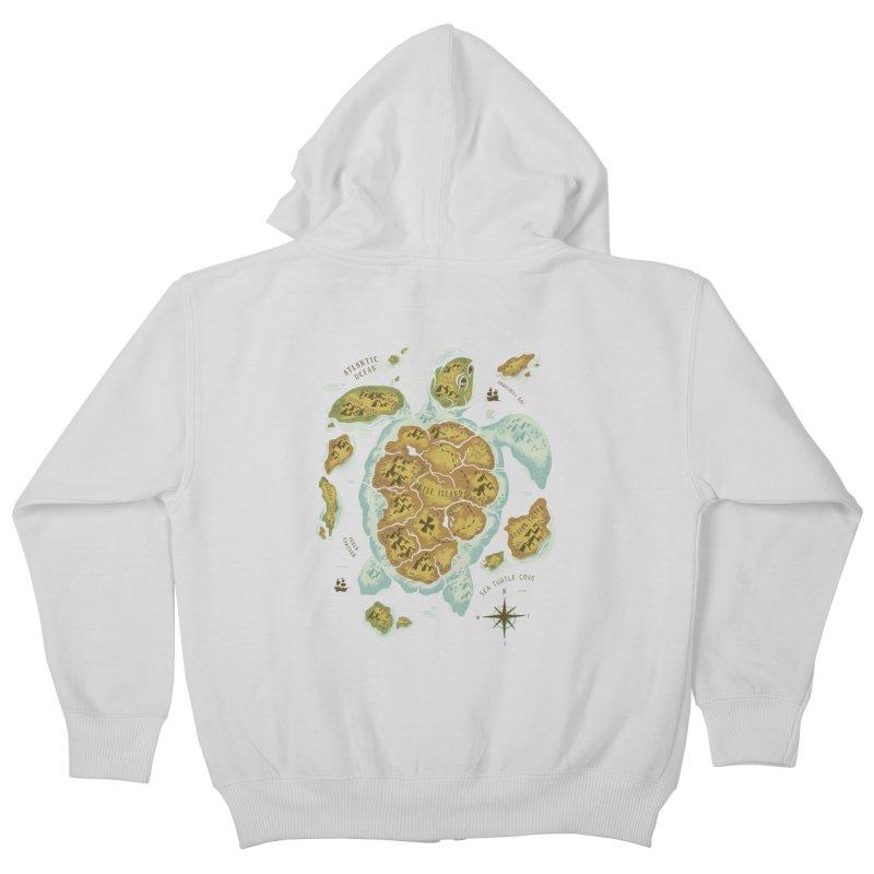 Turtle Island Kids Zip-Up Hoody by CPdesign's Artist Shop