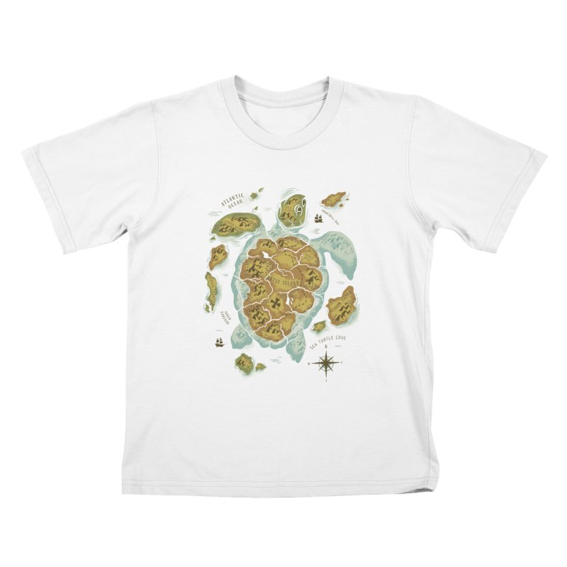 Turtle Island Kids T-Shirt by CPdesign's Artist Shop