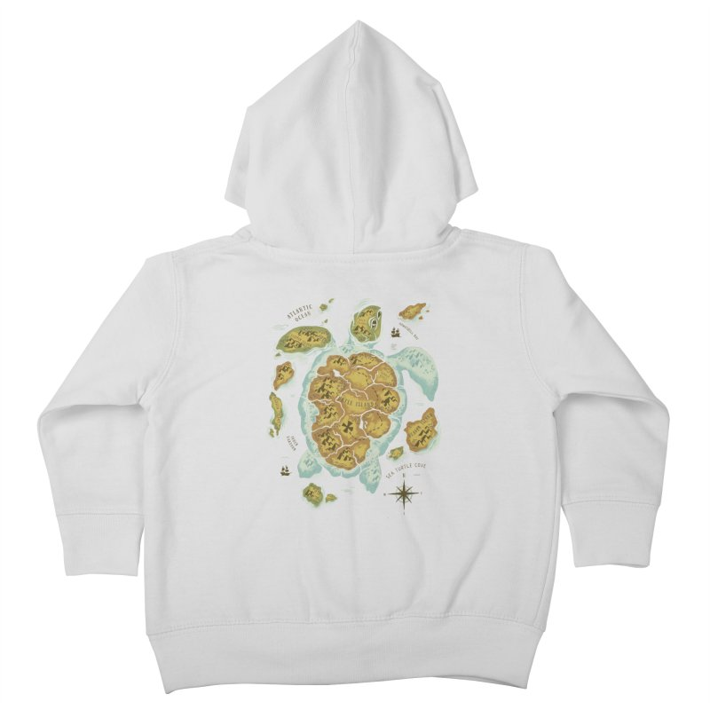 Turtle Island Kids Toddler Zip-Up Hoody by CPdesign's Artist Shop