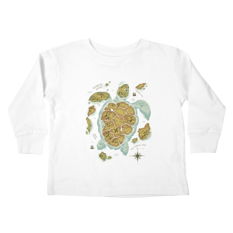Turtle Island Kids Toddler Longsleeve T-Shirt by CPdesign's Artist Shop