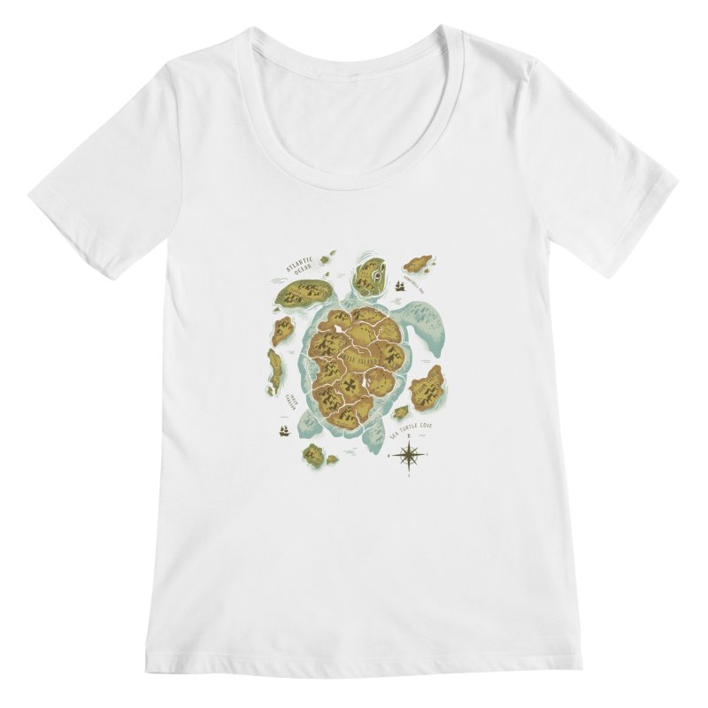 Turtle Island Women's Scoopneck by CPdesign's Artist Shop
