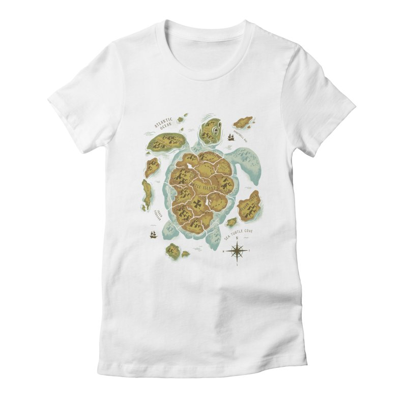 Turtle Island Women's Fitted T-Shirt by CPdesign's Artist Shop