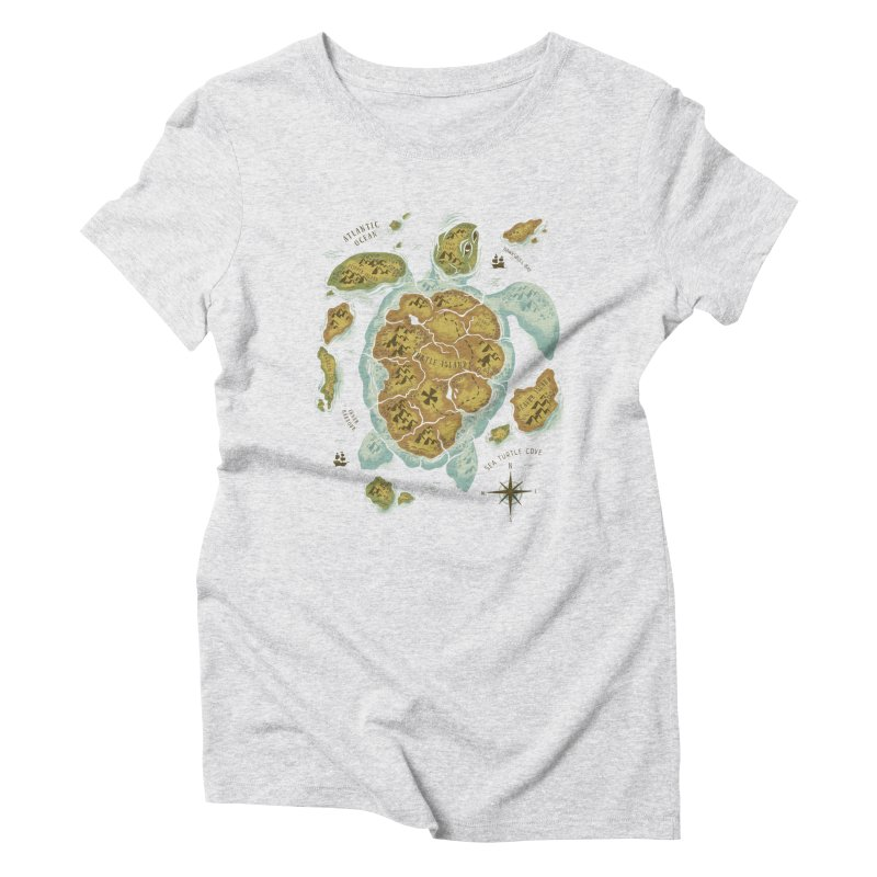 Turtle Island Women's Triblend T-Shirt by CPdesign's Artist Shop