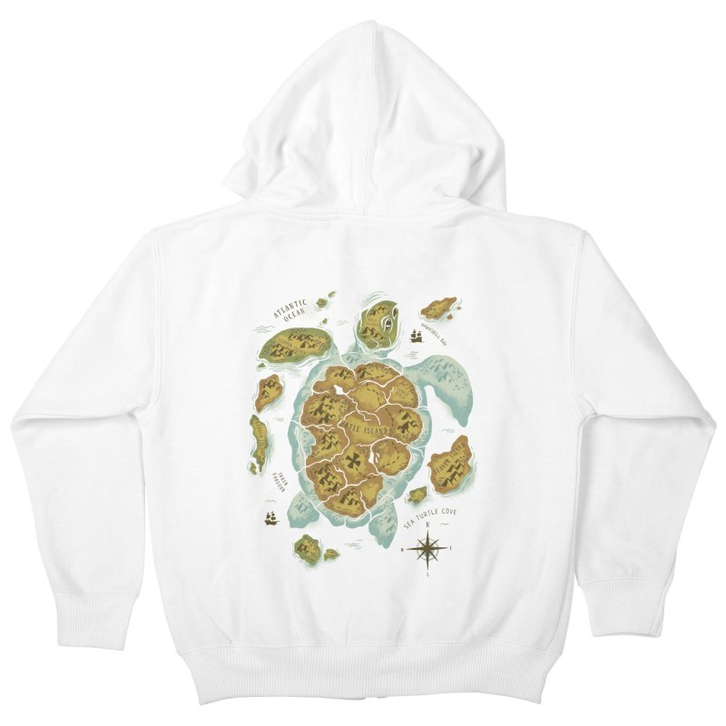 Turtle Island Kids Zip-Up Hoody by CPdesign's Artist Shop