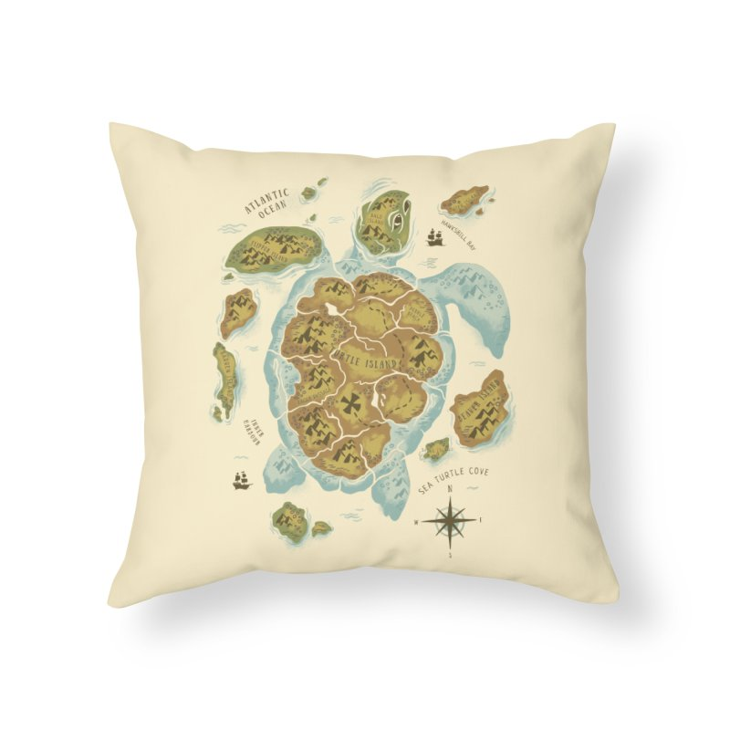 Turtle Island Home Throw Pillow by CPdesign's Artist Shop