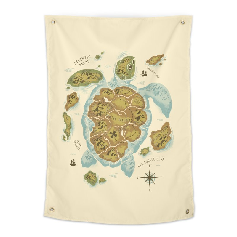 Turtle Island Home Tapestry by CPdesign's Artist Shop