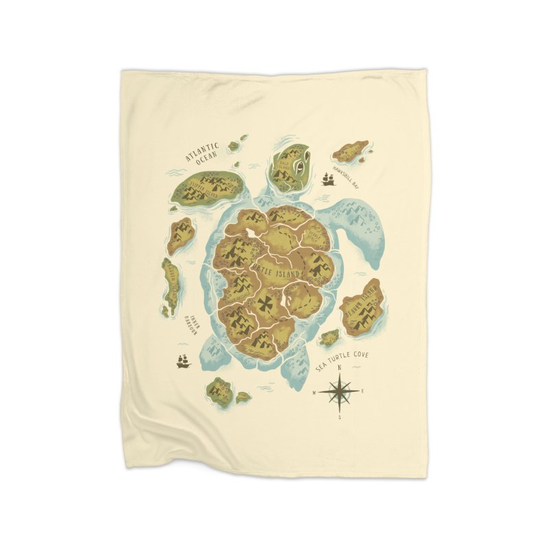 Turtle Island Home Fleece Blanket by CPdesign's Artist Shop