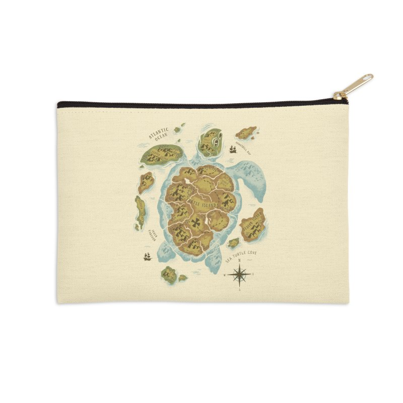 Turtle Island Accessories Zip Pouch by CPdesign's Artist Shop