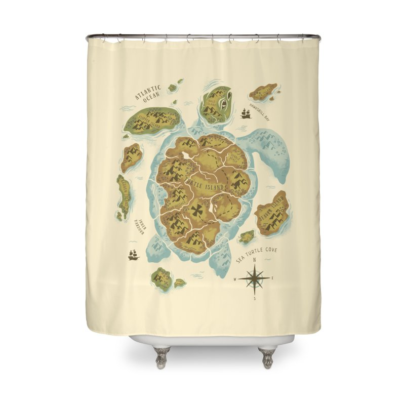 Turtle Island Home Shower Curtain by CPdesign's Artist Shop