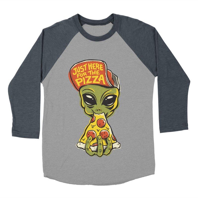 Here For Pizza Men's Baseball Triblend Longsleeve T-Shirt by CPdesign's Artist Shop