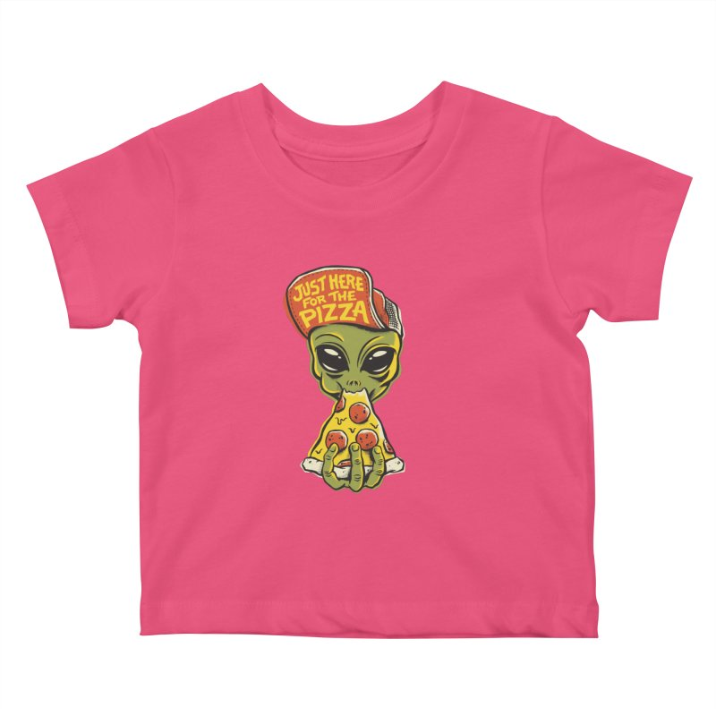 Here For Pizza Kids Baby T-Shirt by CPdesign's Artist Shop
