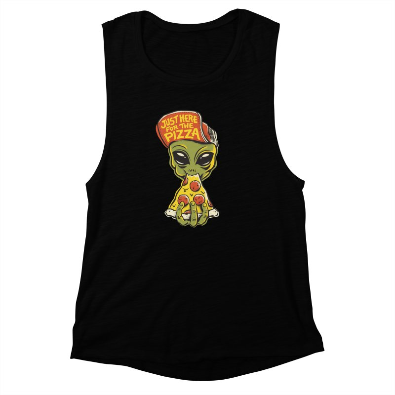 Here For Pizza Women's Muscle Tank by CPdesign's Artist Shop