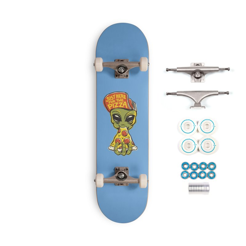 Here For Pizza Accessories Complete - Basic Skateboard by CPdesign's Artist Shop