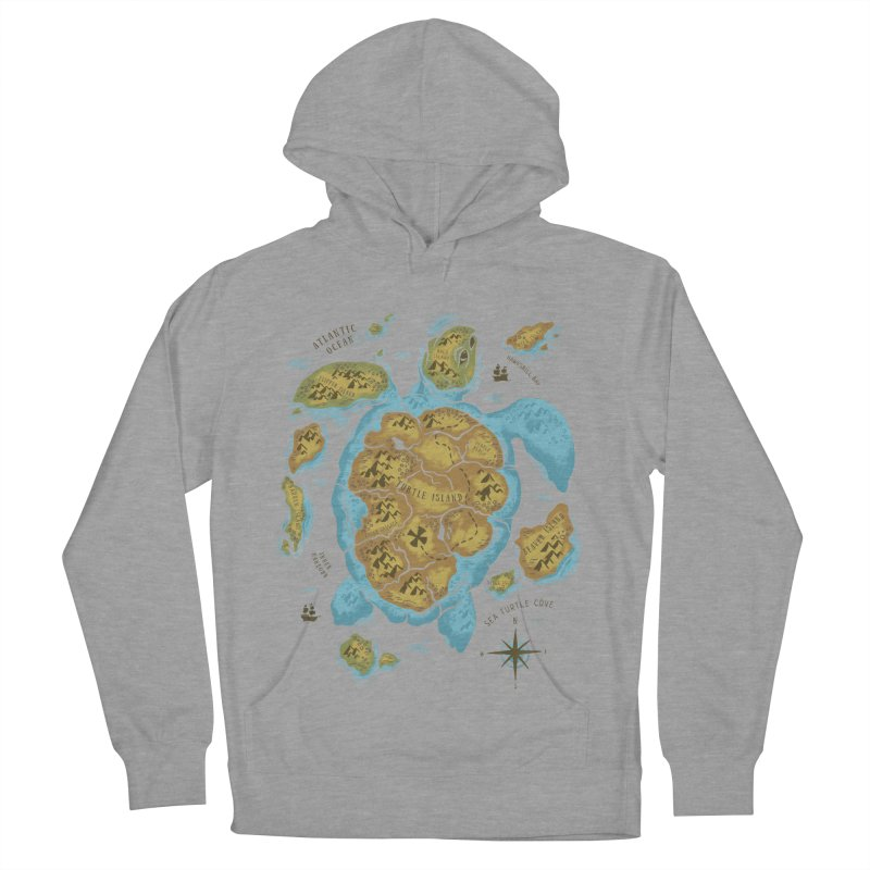 Sea Turtle Island Women's Pullover Hoody by CPdesign's Artist Shop