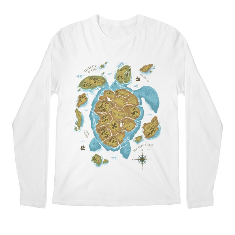 Sea Turtle Island Men's Longsleeve T-Shirt by CPdesign's Artist Shop
