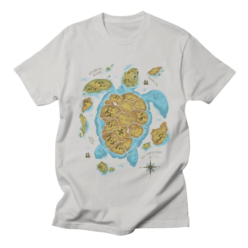 Sea Turtle Island Men's T-Shirt by CPdesign's Artist Shop